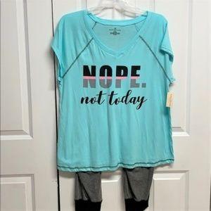 Bobbie Brooks Pajamas Size XL New Not Today